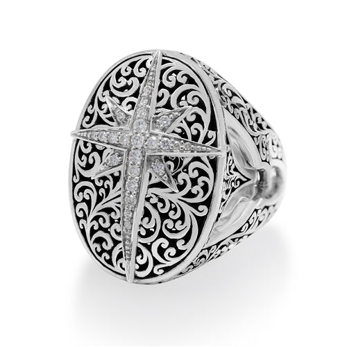 Diamond Starburst Ring - Lois Hill Jewelry