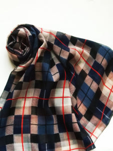 Plaid Viscose hijab