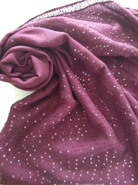 Red sequin party  hijab