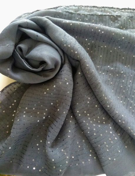 Brown sequin party  hijab