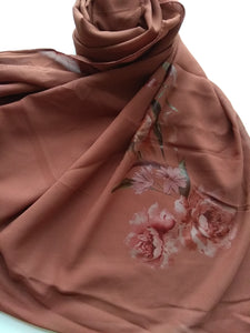 Brown paint hijab