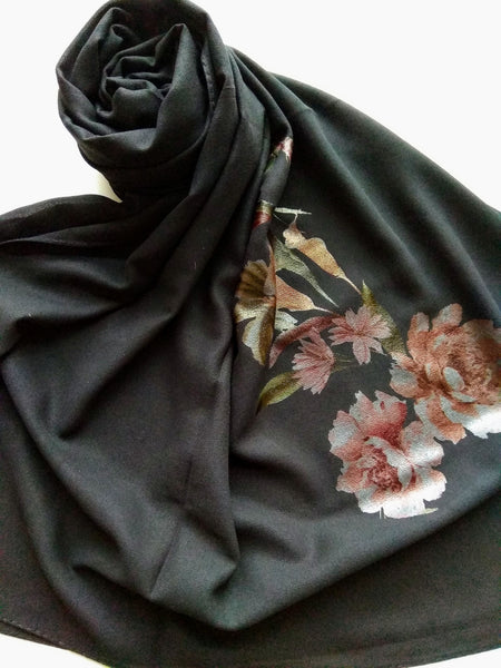 Black paint hijab