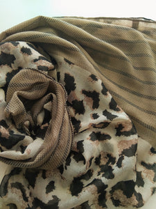 Leopard and stripes hijab