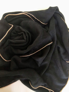Black gold chain Hijab
