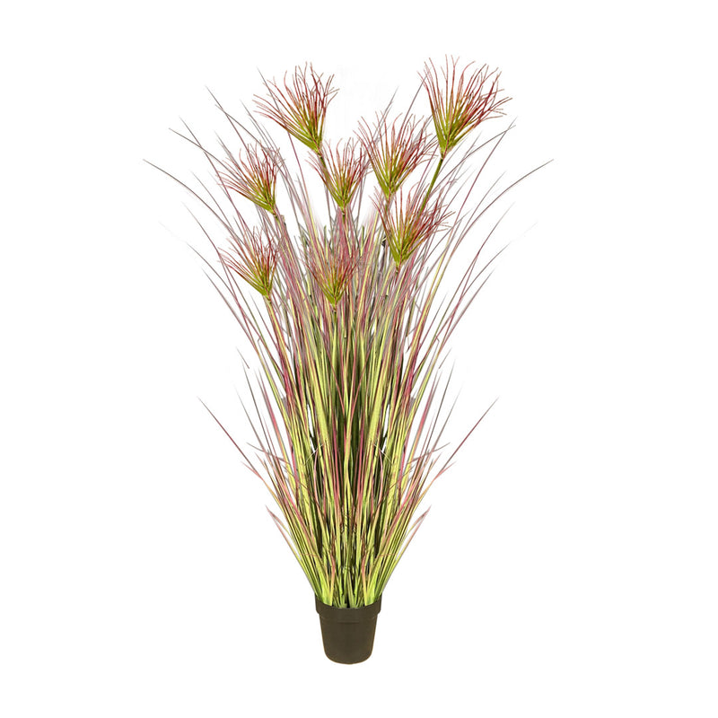 Purple Artificial Indoor Potted Papyrus Plant Tree - 120cm - Notbrand