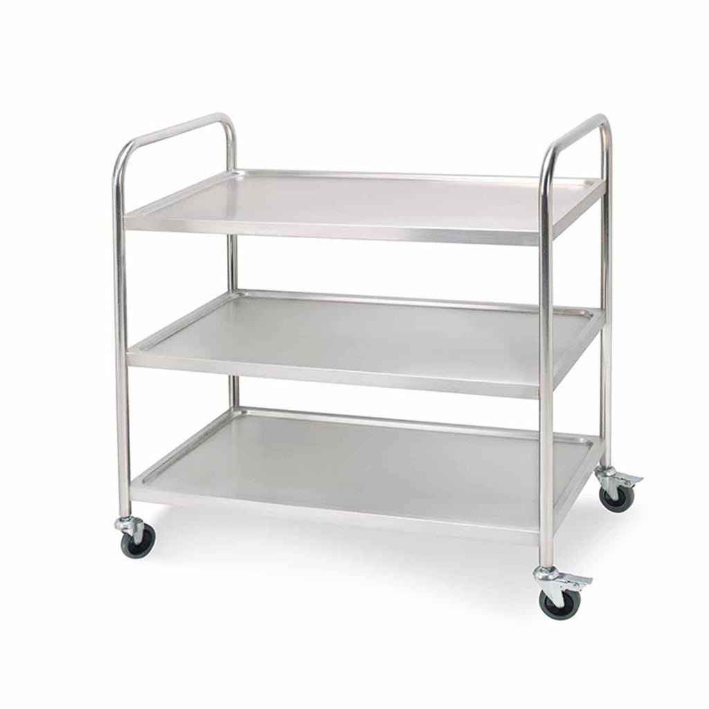 Stainless Steel Round Utility Cart Large - 3 Tier - Notbrand