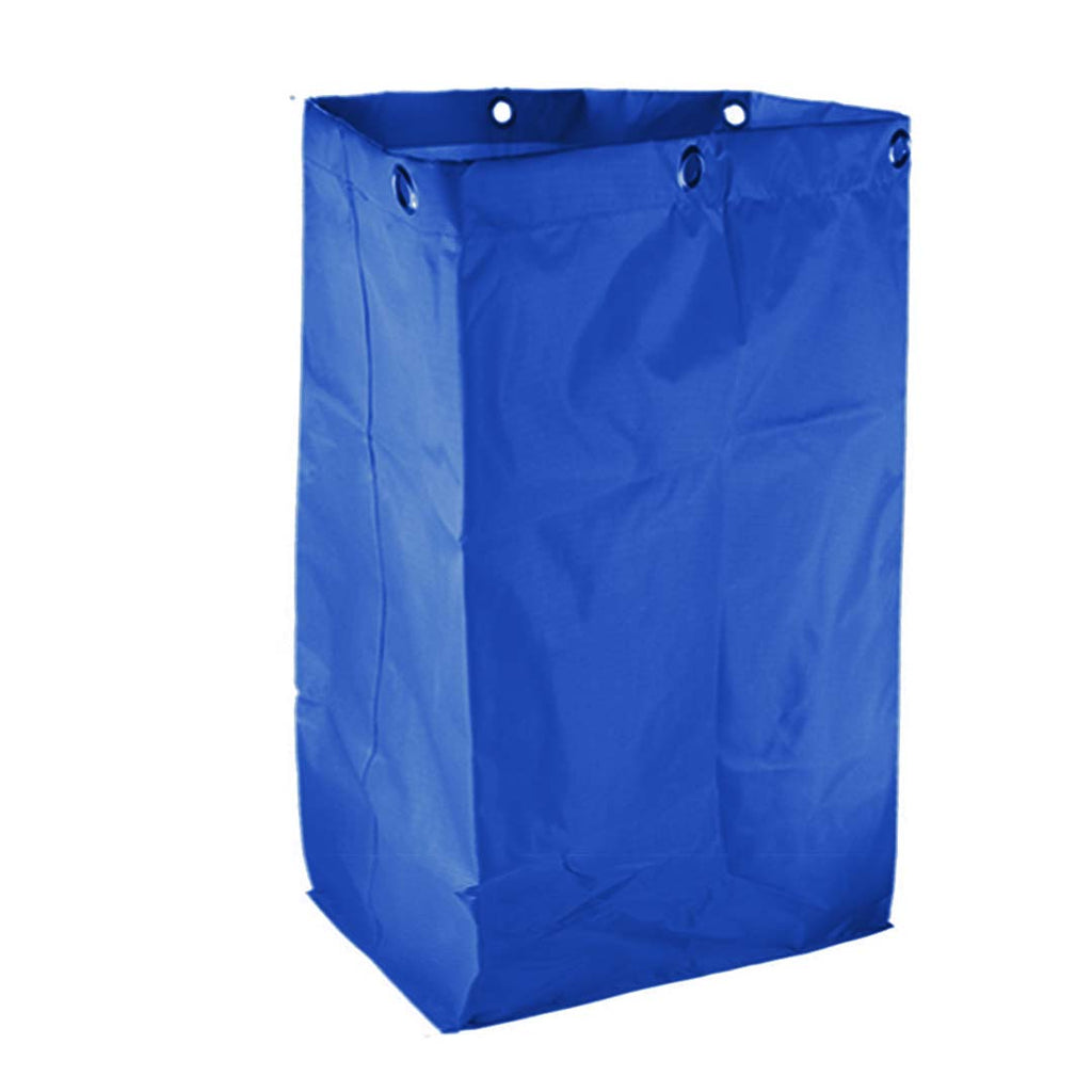 Oxford Cloth Janitor Replacement Cart Bag - Blue