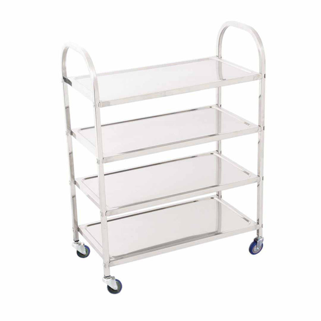 Stainless Steel Square Utility Cart Large - 4 Tier - Notbrand