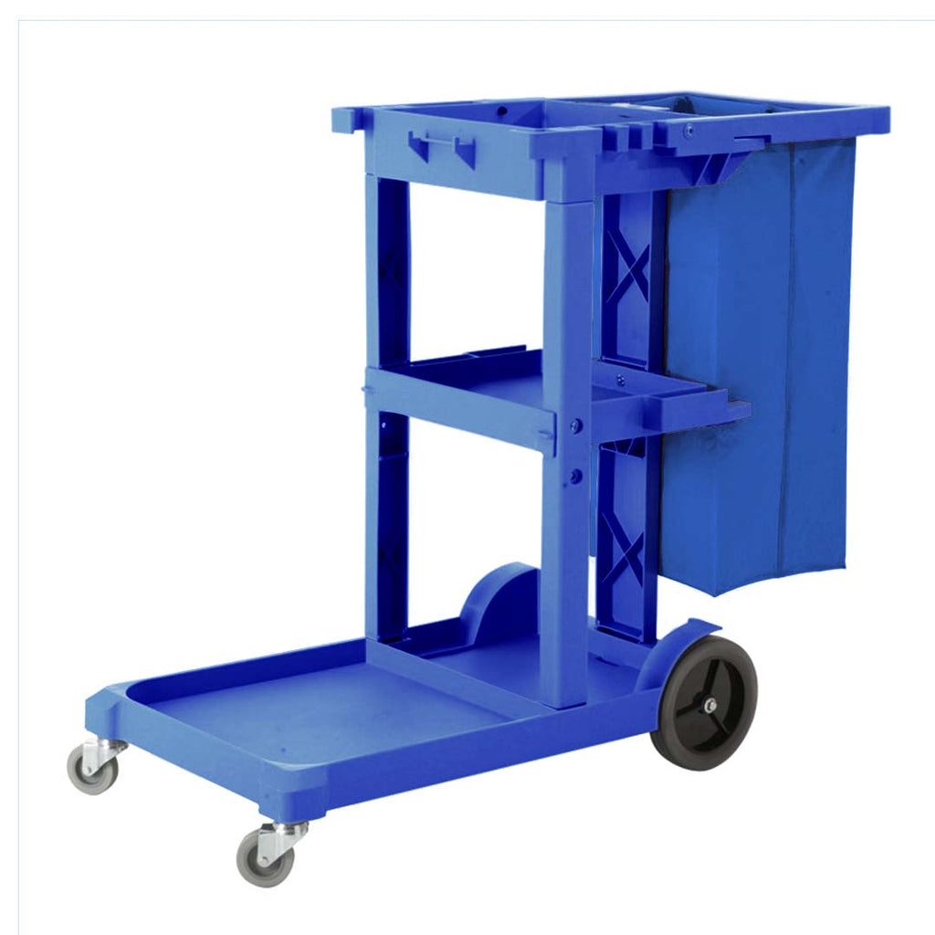 Multifunction Janitor Cart And Bag Blue - 3 Tier - Notbrand
