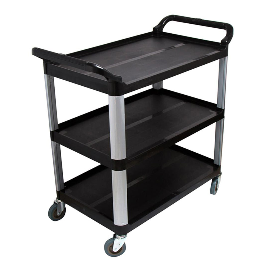 Utility Cart Black Large - 3 Tier - Notbrand