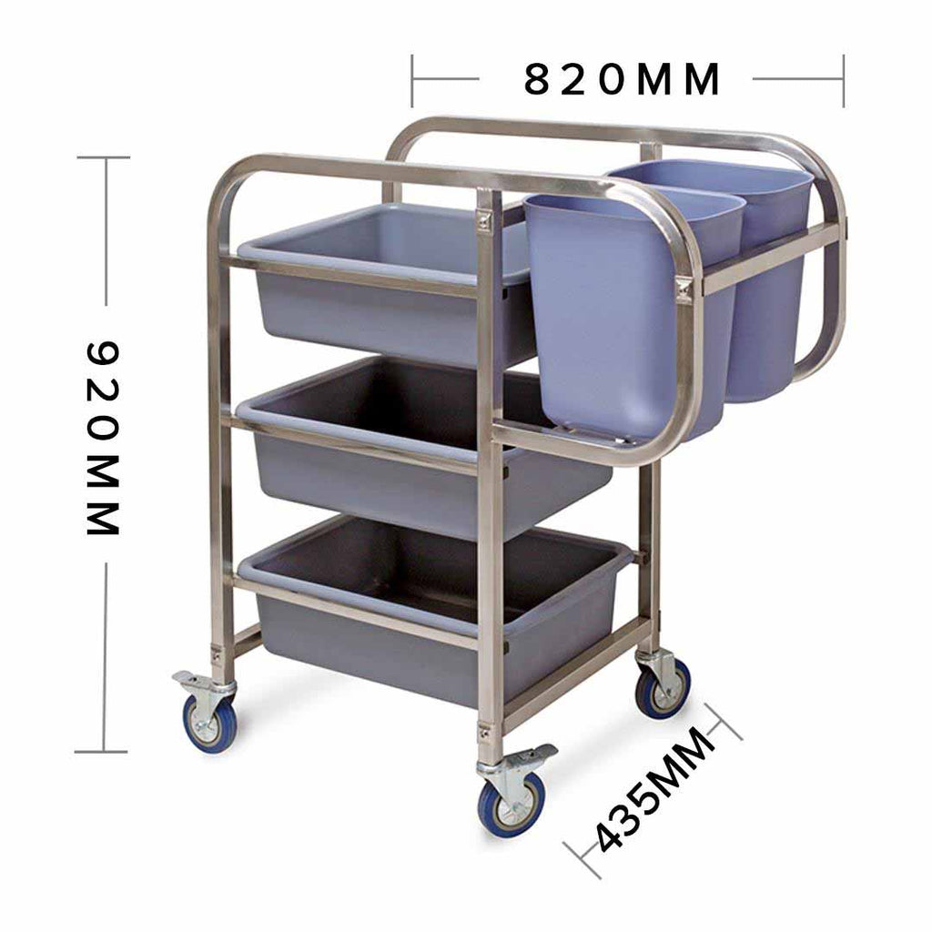 Trolley Cart Five Buckets Square - 3 Tier - Notbrand
