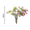 Purple Magnolia Denudata Artificial Flowers - 6 Bunch 4 Heads - Notbrand