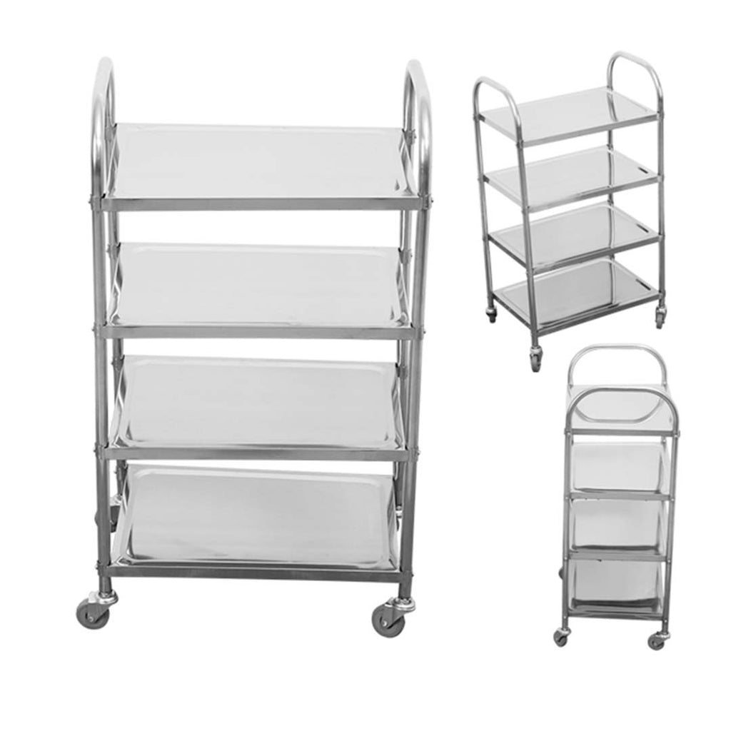 4 TIER STAINLESS STEEL UTILITY CART 950X500X1220 - Notbrand