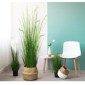 Artificial Indoor Potted Reed Grass Tree - 120cm - Notbrand