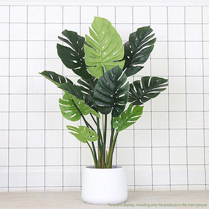 Artificial Potted Turtle Back Plant - 80cm - Notbrand