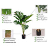 Artificial Turtle Back Plant - 120cm - Notbrand