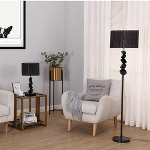 Black Table Lamp With Dark Shade LED - 60cm - Notbrand