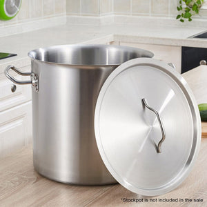 Silver Stainless Steel Stock Pot Lid - 25cm - Notbrand
