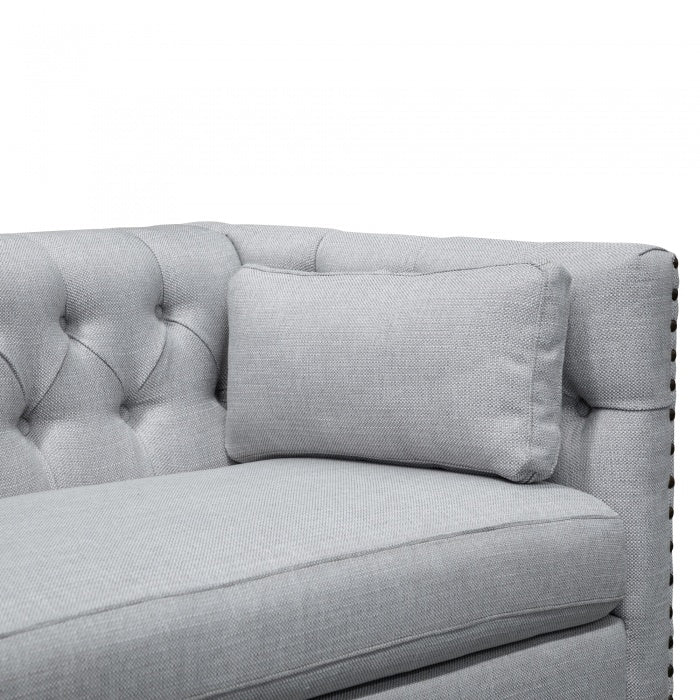 Dakotah 3 Seater Sofa - Light Grey Texture - Notbrand