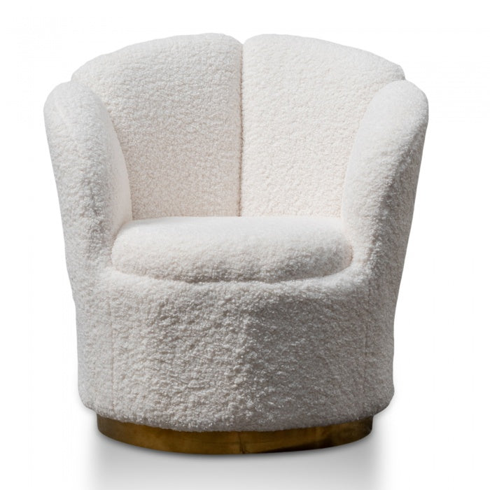 Reggie Wool Fabric Lounge Chair Gold Base - Notbrand