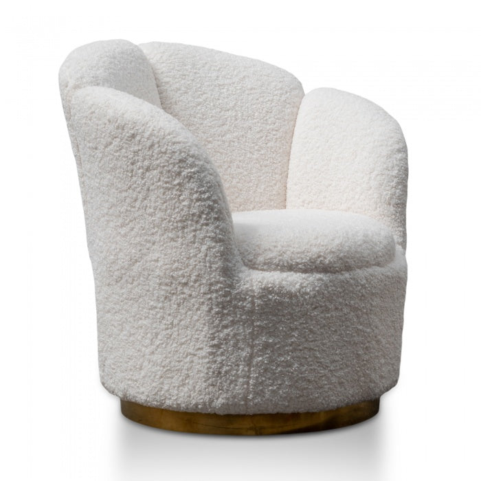 Reggie Wool Fabric Lounge Chair - - Notbrand