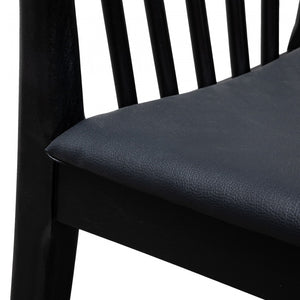 Tristan Dining chair - Solid Timber and Black PU - Notbrand