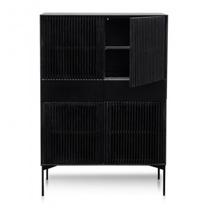 Avery Storage Shelving Cabinet - Black Oak - Notbrand