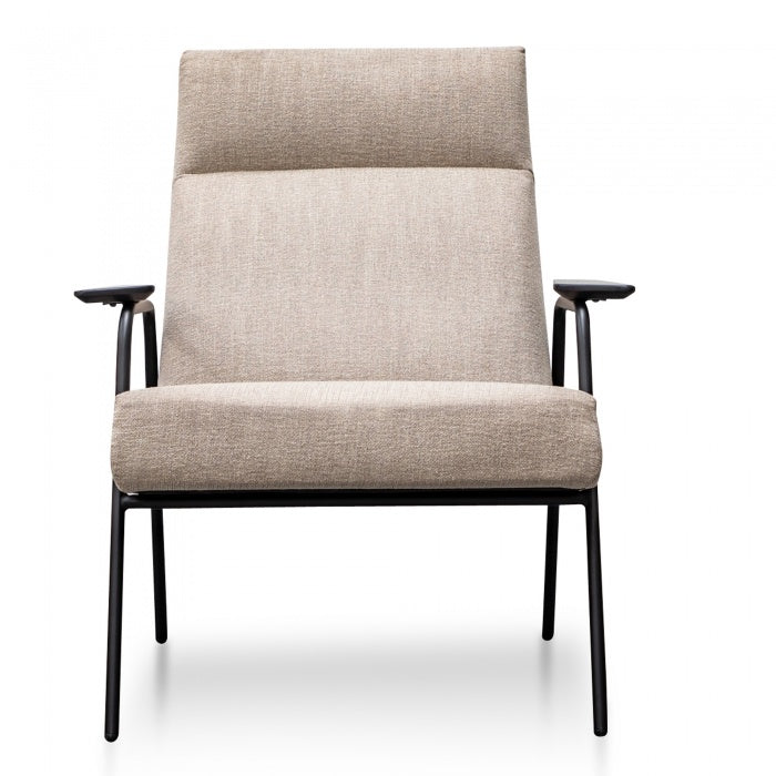 Loyd Fabric Armchair in Sand Grey - Notbrand