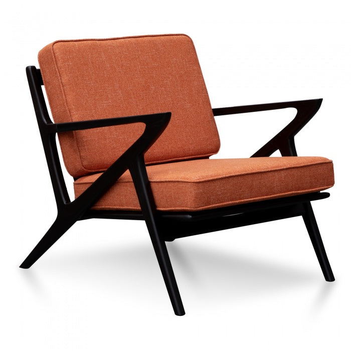 Bryon Fabric Armchair - Rust Brown - Notbrand