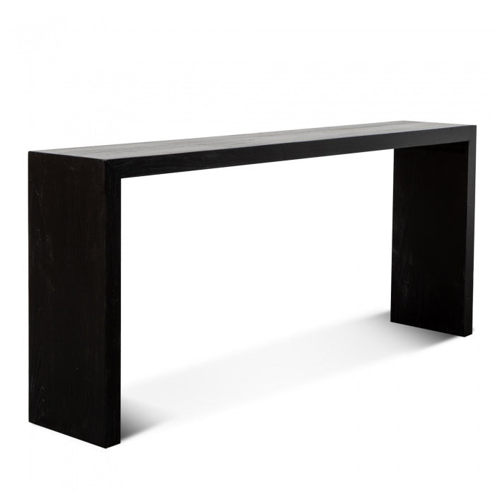 Norbert Reclaimed Elm Console Table - Full Black - Notbrand