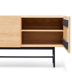Turin 2 Doors Buffet Unit - Natural Black Legs - Notbrand