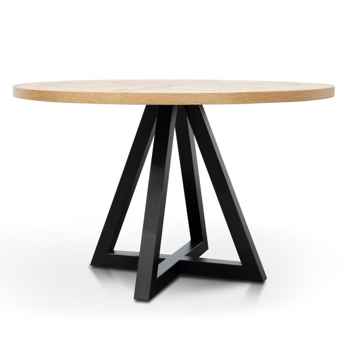 Nixon Timber Round Dining Table - Oak - Notbrand