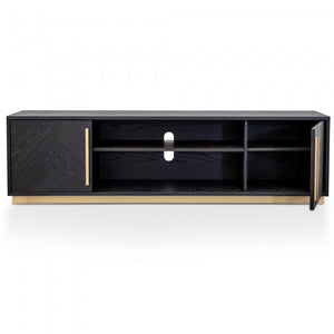 Alfred Entertainment TV Unit Black - Brass - Notbrand