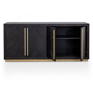Alfred Wide Sideboard - Black and Brass - Notbrand