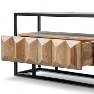 Trudy Pine Wood Entertainment TV Unit - Natural - Notbrand