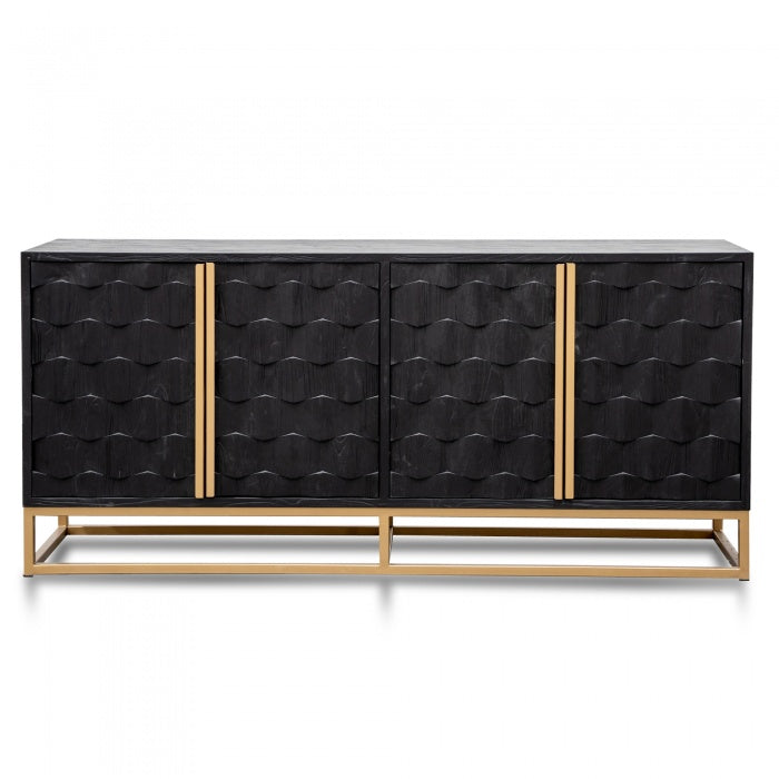 Harriosn Elm Wood Sideboard - Black - Notbrand