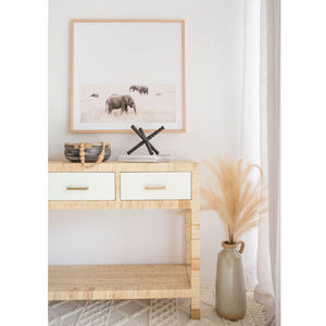 Palms Three Drawer Console Table - Notbrand
