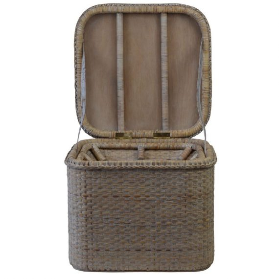 Verandah Rattan Storage Chest Square - Notbrand