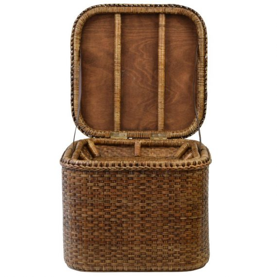 Plantation Rattan Chest Storage Box Square - Notbrand