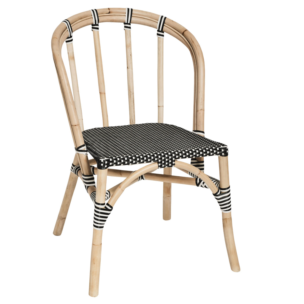 Peninsula Lyon Rattan Chair Black - Notbrand