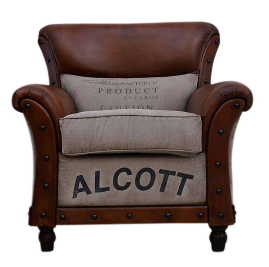 Alcott Large Vintage Arm Chair - Notbrand