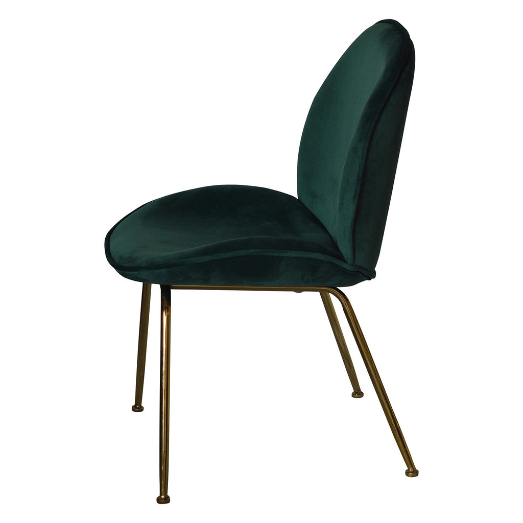 Set of 2 Paoluccio Green Velvet Dining Chair - Notbrand