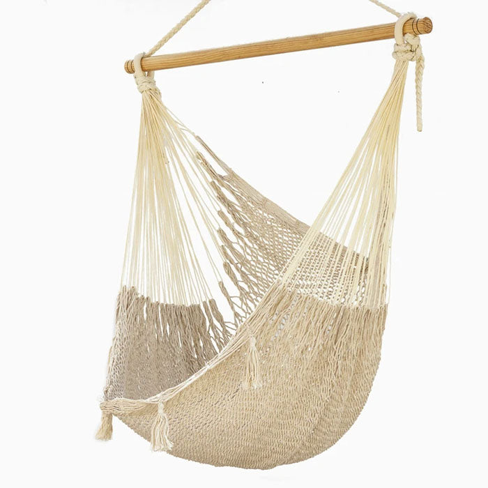 Extra Large Cotton Mexican Hammock Chair Cream Outdoor - Notbrand