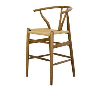 Replica Wishbone Bar Stool Natural Oak - Notbrand