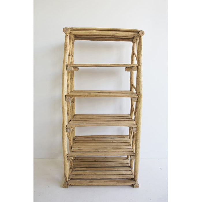 Paisley Teak Wood Six Tier Shelving Storage - Notbrand