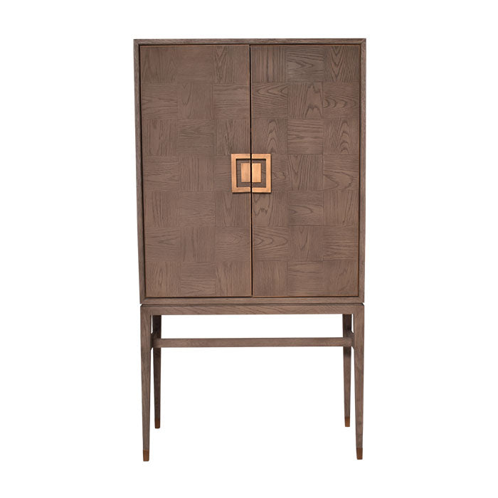 Avante Parquetry Bar Cabinet - Notbrand
