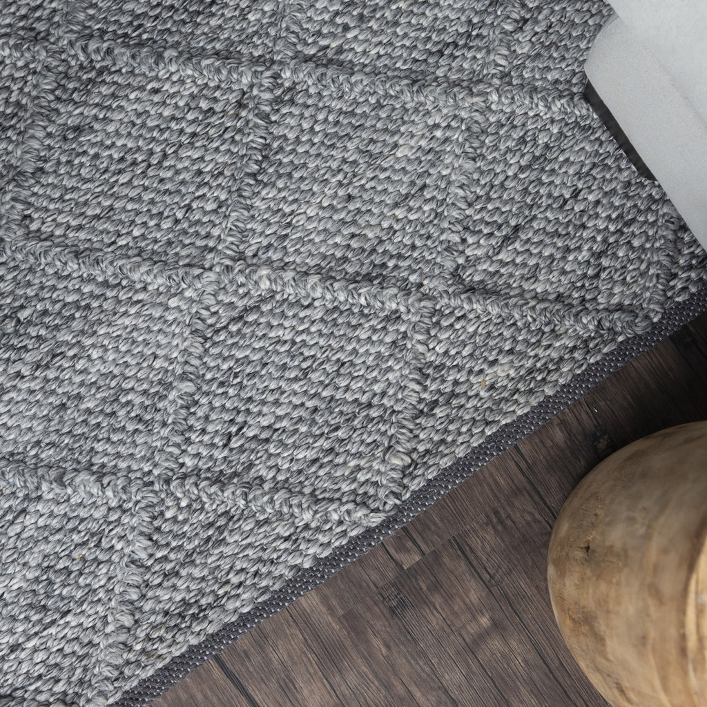 Crossroads Grey Wool Blend Rug