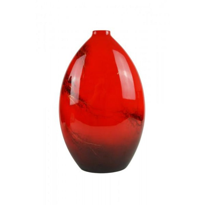 Red Elements Hand Painted Bottle Lacquer Vase - Large - Notbrand