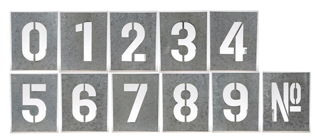 Metal Number Wall Art - Notbrand