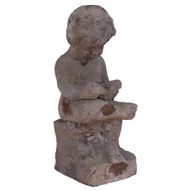 Young Cherub Reading Statue - Notbrand